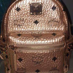 Mcm Stark Mini Studded Metallic Visetos Backpack